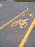 Curved Bike Bicycle Path Royalty Free Stock Photography