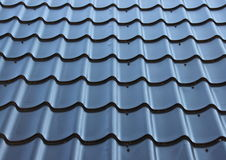 Curved black metal roof with wave design Royalty Free Stock Images