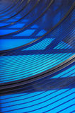 Curved blue Stock Photography