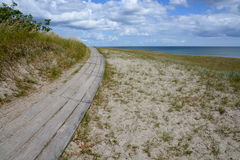 Curved boardwalk Royalty Free Stock Images