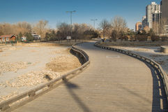 Curved boardwalk Stock Photography