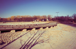 Curved boardwalk 3 Stock Photography