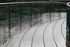 Curved Boardwalk stock images