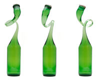 Curved bottle Royalty Free Stock Images