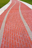 A curved brick path Royalty Free Stock Photos