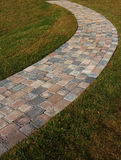 Curved Brick Path Royalty Free Stock Photography