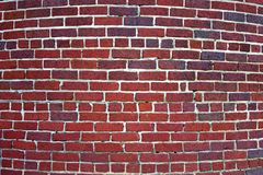 Curved Brick Wall Background Royalty Free Stock Images