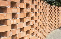 Curved brick wall pattern Stock Photography