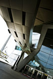 Curved bridge. Linking the BMW welt show room to the BMW museum at munich germany Stock Images