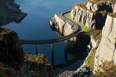 Curved bridge. Stock Photo