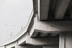 Curved bridge architecture Royalty Free Stock Photos
