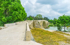 The curved bridge in Aspendos Royalty Free Stock Images