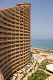 Curved Building. A Resort over The Red Sea, Ain Sokhna, Egypt Stock Photo