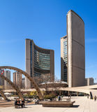 Curved building of the new City Hall in Toronto Royalty Free Stock Image