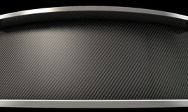 Curved Carbon Fibre And Chrome Stock Photography