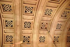 Curved Ceiling Design of Palace Royalty Free Stock Photography
