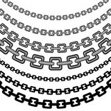 Curved Chain Pattern Royalty Free Stock Images