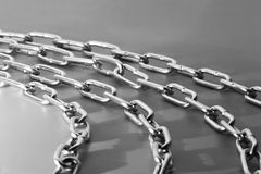 Curved Chains Stock Photo