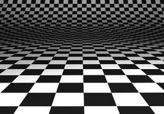 Curved chequered floor Royalty Free Stock Photos