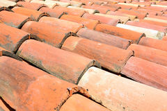 Curved clay tiles Royalty Free Stock Photography