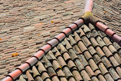 Curved clay tiles Stock Photos
