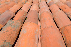 Curved clay tiles Stock Image