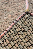 Curved clay tiles Stock Photography