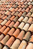 Curved clay tiles Royalty Free Stock Photo