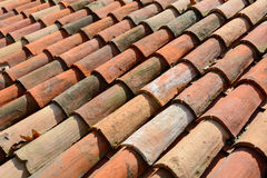 Curved clay tiles Royalty Free Stock Photos