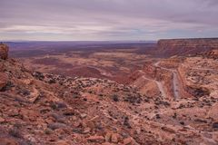 Curved Cliff Road in Utah Royalty Free Stock Photography