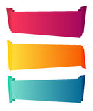 Curved color paper banners isolated on white background. Decorative ribbons Royalty Free Stock Photos