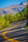 Curved Colorado Mountain Road Royalty Free Stock Photos
