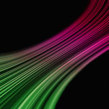 Curved colored stripes Stock Image