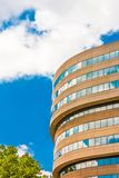Curved Concrete and Glass Office royalty free stock photos