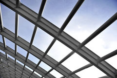 Curved construction beams Stock Photography