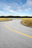 Curved Country Road Royalty Free Stock Photo