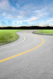 Curved Country Road Stock Images