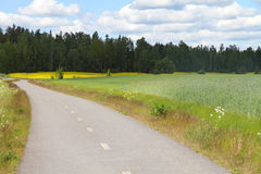 Curved country road in Finland Royalty Free Stock Photos