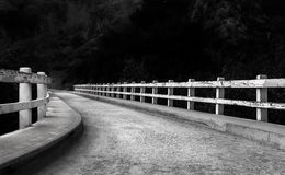Curved Darkened Path Stock Photo