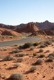 Curved Desert Road Royalty Free Stock Photography
