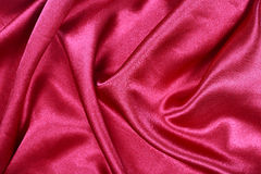 curved design on red silk for pattern and background Stock Photos