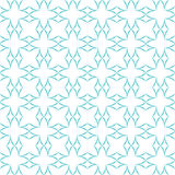 Curved Diamonds Pattern. Abstract geometric pattern. Lattice of light blue curved diamonds on white background. Seamless repeat Royalty Free Stock Photography
