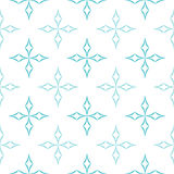 Curved Diamonds Pattern. Abstract geometric pattern of light blue curved diamonds set in cross-like shapes on white background. Seamless repeat Stock Photography