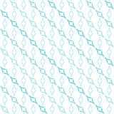 Curved Diamonds Pattern. Abstract geometric pattern of light blue curved diamonds set in diagonal stripes on white background. Seamless repeat Stock Images