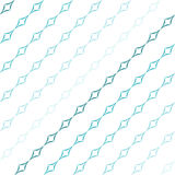 Curved Diamonds Pattern. Abstract geometric pattern of light blue curved diamonds set in diagonal stripes on white background. Seamless repeat Royalty Free Stock Photo