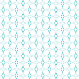 Curved Diamonds Pattern. Abstract geometric pattern of light blue curved diamonds set horizontally and vertically on white background. Seamless repeat Royalty Free Stock Photography