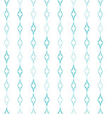 Curved Diamonds Pattern. Abstract geometric pattern of light blue curved diamonds set in vertical stripes on white background. Seamless repeat Royalty Free Stock Photo