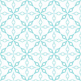 Curved Diamonds Pattern. Abstract geometric pattern. Trellis of light blue curved diamonds on white background. Seamless repeat Stock Photo