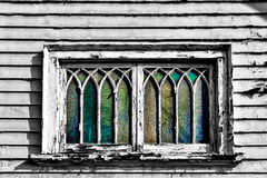 Curved Distressed Window Royalty Free Stock Image