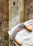 Curved double handled knife Stock Photo